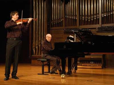 Jordán Tejedor y Miguel Ángel Tapia. Concierto Recital de violín y piano