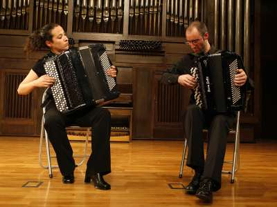 Patricia Fernández y Iban Galdós. Concierto Recital de dúo de acordeones