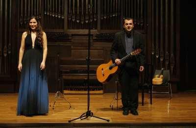 Dúo Orpheo, Eugenia Boix y Jacinto Sánchez. Concierto Recital de canto y guitarra
