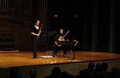 María José Belotto y Gonzalo Noque. Concierto Recital de flauta y guitarra