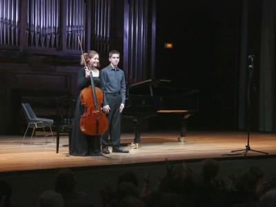 Georgina Sánchez Torres y Carlos Martín Rayo. Concierto Recital de violonchelo y piano