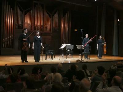 Maite Ciriaco, Iustina Bumbu, Paula Gómez y José Lozano. Concierto Cuadros que suenan: de la vihuela a la guitarra eléctrica - Conciertos en familia (2012)