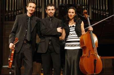 Trio Vega, Marc Paquin, Orfilia Saiz Vega y Ángel Jábega Murado. Concierto Recital de trío con piano