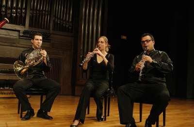 David Melgar, Blanca Sans y Javier Olmeda. Concierto Recital de música de cámara