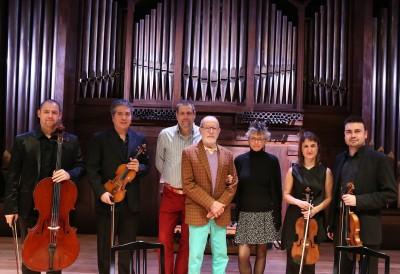 Cuarteto Bacarisse, Benjamín Bacarisse, Salvador Bacarisse Cuadrado y Jennifer Bacarisse. Concierto Integral de los cuartetos de cuerda de S. Bacarisse