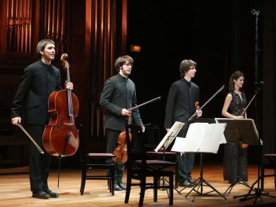 Jesús Miralles, Miguel Jordá, Lluís Castán y Judit Bardolet. Concierto Recital de música de cámara