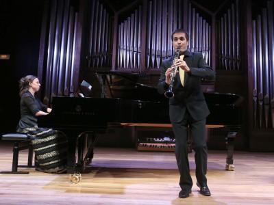 Dúo Alfageme, Eduardo Alfageme y Irene Alfageme. Concierto Recital de clarinete y piano