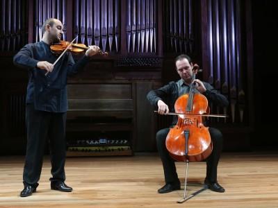 Carlos Benito de la Gala y Alberto Gorrochategui. Concierto Recital de violín y violonchelo