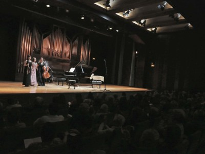 Trio Areti, Anna Asieieva, Lidia Nochovska y Indira Rahmutulla. Concierto Recital de música de cámara