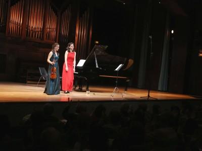Ivana Gavric y Elena Jáuregui Narváez. Concierto Recital de violín y piano