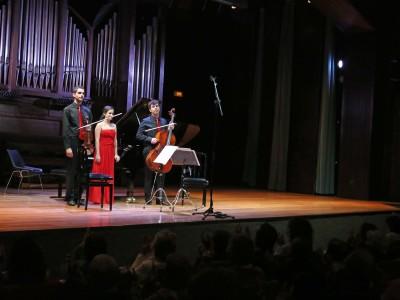 Trío San Sebastián, Antonio Viñuales, Aída Maldonado y Salvdor Bolón. Concierto Recital de Música de Cámara