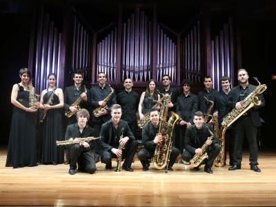 Ensemble de Saxofones del CSMA y Mariano García Jiménez. Concierto Ensemble de Saxofones del CSMA