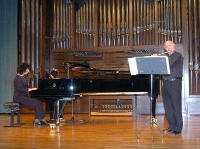 Manuel Guerrero Ruiz y Isabel Fátima Hernández. Concierto La flauta española