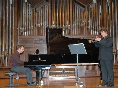 José Gallego y Luis González. Concierto La trompeta española