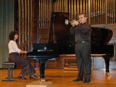 Isabel Fátima Hernández y Germán Asensi. Concierto La trompeta española