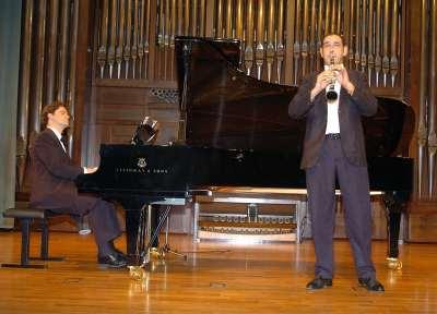 Jesús Echeverría, Dúo Echeverría-Apellániz y Carlos Apellániz. Concierto El clarinete en España