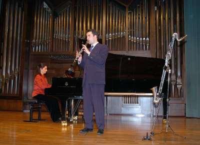 Dúo Rúbens, Ana Benavides y Pedro Rubio. Concierto El clarinete en España