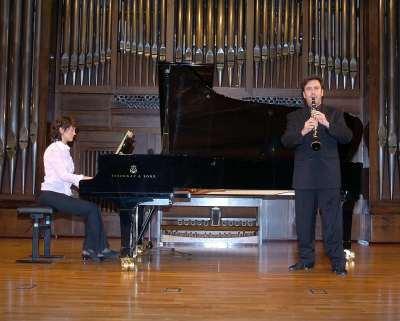 Dúo Dédalo, Renata Casero y Alberto Ferrer. Concierto El clarinete en España
