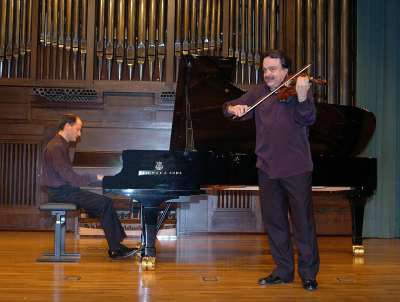 Jesús Ángel León y Miguel Ángel Muñoz. Concierto El violín en España