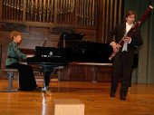 Olga Semushina y Vicente Mascarell. Concierto Músicas para el fagot
