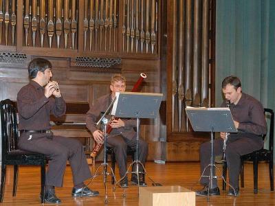 Luis Orden, Javier Aragó, Trío Pleyel y Francisco Javier Trigos. Concierto Músicas para el fagot