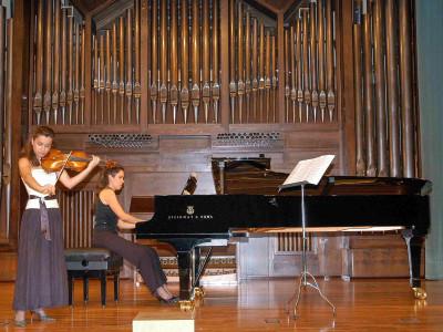 Guillermo Chaloub y Alba Ventura. Concierto Cuarta tribuna de jóvenes intérpretes: el violín