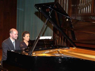 Sebastián Mariné y Elena Aguado. Concierto El dúo pianístico a cuatro manos