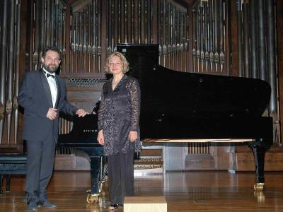 Heidi Sophia Hase, Atlantis Piano Dúo y Eduardo Ponce. Concierto El dúo pianístico a cuatro manos