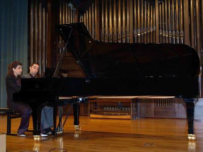 Emilio González Sanz y Sofía Melikyan. Concierto El dúo pianístico a cuatro manos