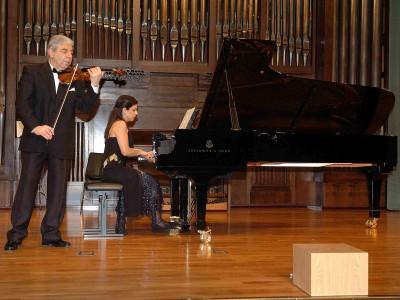 Levon Melikian y Sofía Melikyan. Concierto Música de cámara armenia