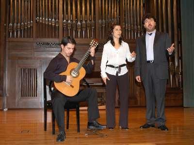 Mauro Zanatta, Pìa Moriyón y Daniele Gaspari. Concierto La guitarra romántica - La guitarra española