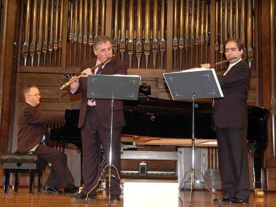 Claudio Arimany, Antonio Arias Gago Gago y Alan Branch. Concierto La flauta en trío