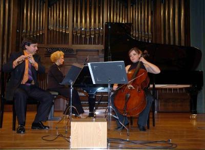 Joaquín Gericó, Marisa Blanes Nadal y Elena Solanes. Concierto La flauta en trío