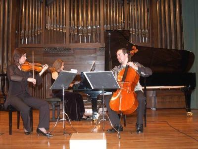 Trío Janácek, Helena Jiríkovska, Marek Novàk y Markéta Janáckova. Concierto Música de cámara checa