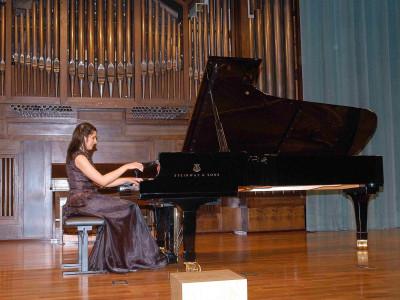 Eloísa Guzmán. Concierto Quinta tribuna de jóvenes intérpretes: el piano