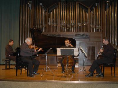 Carlos Casadó, Salvador Puig, Enrique Ferrández y Gerardo López Laguna. Concierto Messiaen en su centenario