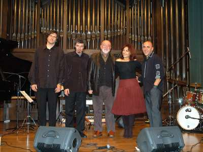 Laura Simó, Francesc Capella, Guillermo Prats y David Simó. Concierto Jazz vocal