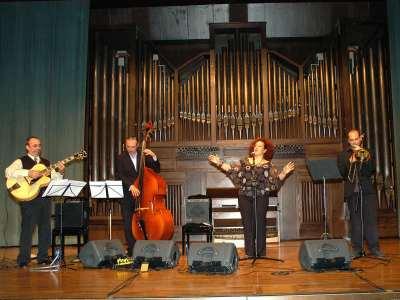 Celia Mur, Kiko Aguado, Marco Fatichenti y Toni Belenguer. Concierto Jazz vocal