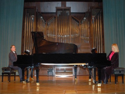 Lydia Rendón y Anatoly Pouzoun. Concierto Música eslava