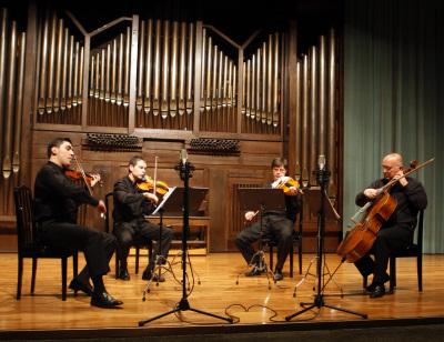 Zorik Tatevosyan, David Tena, Oleg Krylnikov y Dimitar Furnadjiev. Concierto Música eslava