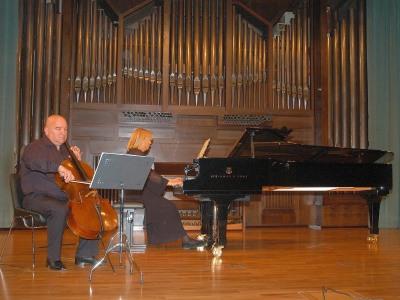 Dimitar Furnadjiev y Lydia Rendón. Concierto Música eslava