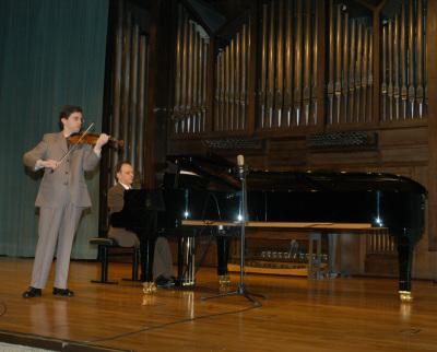 Miguel Pérez-Espejo y Antonio Narejos. Concierto Sarasate y otros virtuosos