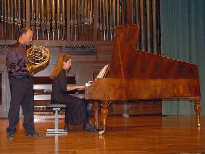 Javier Bonet y Miriam Gómez-Morán. Concierto El fortepiano