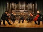 Víctor Correa-Cruz-Cruz, Bruno Vidal, Humberto Armas, Manuel Ascanio y José Enrique Bouché. Concierto Felix Mendelssohn, en su bicentenario