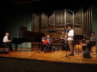 Pedro Ojesto Quinteto, Pedro Ojesto, Juan Miguel Garzón, Fernando Favier, Román Filiú y David Cerreduela. Concierto Jazz fusión