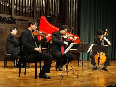 Passamezzo Antico, Pedro Gandía, Andoni Mercero, Itziar Atutxa y Juan Manuel Ibarra. Concierto Henry Purcell: the food of love