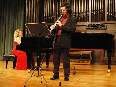 Pedro Garbajosa y Mariana Gurkova. Concierto El clarinete en el clasicismo