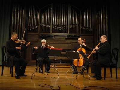 Justo Sanz, Hiro Kurosaki, Marcial Moreiras y Iagoba Fanlo. Concierto El clarinete en el clasicismo