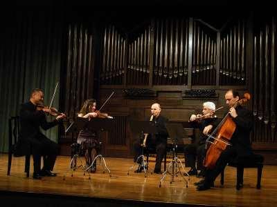 Justo Sanz, Hiro Kurosaki, Lina Tur Bonet-Bonet, Marcial Moreiras y Iagoba Fanlo. Concierto El clarinete en el clasicismo