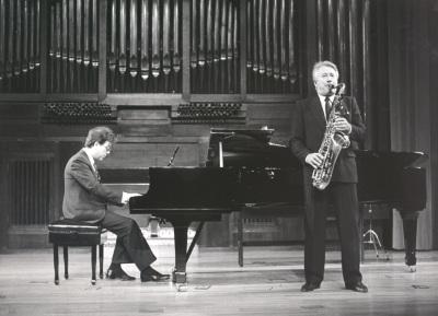 Agustín Serrano y Pedro Iturralde. Recitales para Jóvenes